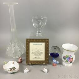Ten Ceramic and Glass Decorative Items