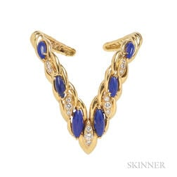 18kt Gold, Lapis, and Diamond Bracelet, Oscar Heyman