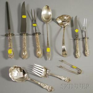 Ten Sterling Serving Items