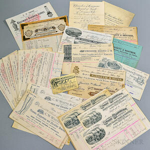 Group of Trade Cards, Bill Heads, and Related Ephemera
