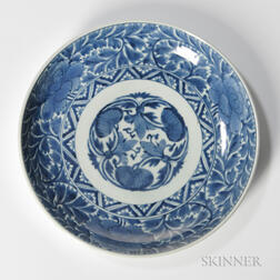 Blue and White Imari Porcelain Plate