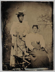 Tintype Depicting Two African American Women
