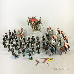 Seven Sets of Britains Lead Soldiers