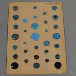 Collection of Thirty-two Assorted Glass Buttons