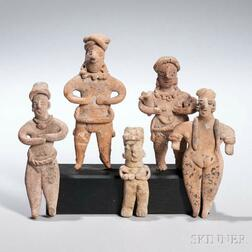 Five Nayarit Female Figures