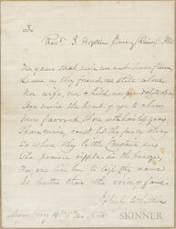 Whittier, John Greenleaf (1807-1892) Autograph Poem Signed and Autograph Letter Signed.