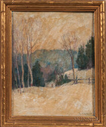 Mary Alberta Cleland (Quebec, 1876-1960)      Two Landscape Paintings