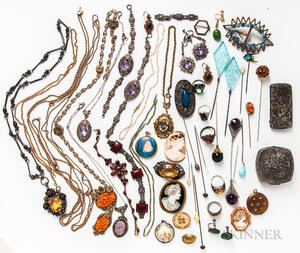 Group of Vintage Costume Jewelry and Accessories