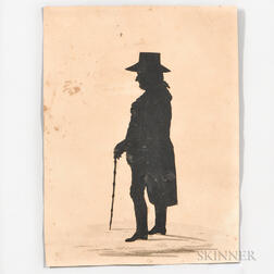 Silhouette of Dr. Holyoke of Salem Cut by Master Hankes