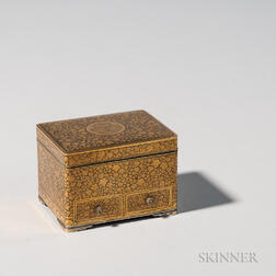 Gilt and Lacquered Komai Silver Box