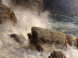 William Trost Richards (American, 1833-1905)      The Shores of Bude, Cornwall