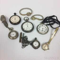 Group of Pocket Watches and Wristwatches