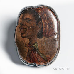 Papier-mache Snuff Box with African American Imagery