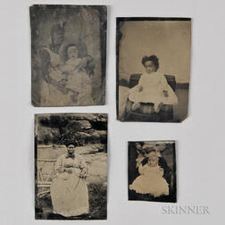 Four Tintypes Depicting African Americans