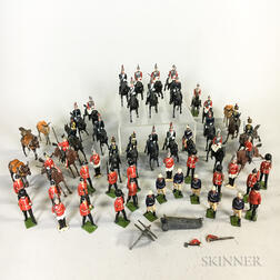 Ten Sets of Britains Lead Soldiers