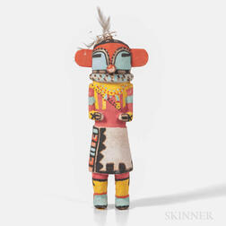 Hopi Polychrome Carved Wood Katsina