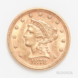 1878 $2.50 Liberty Head Gold Coin.     Estimate $200-300