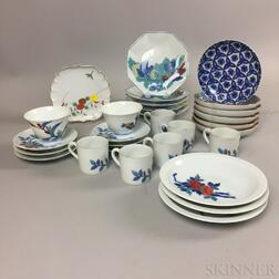 Set of Nabeshima Porcelain Tableware