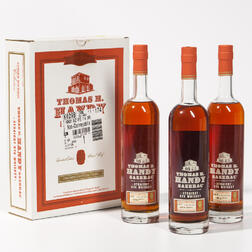 Buffalo Trace Antique Collection Thomas H Handy Sazerac Rye, 3 750ml bottles (oc)