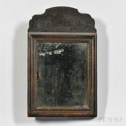 Black-painted Queen Anne Mirror