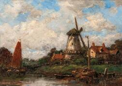 Jacob Maris (Dutch, 1837-1899)      Dutch Village
