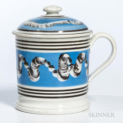 Slip-decorated Porter Mug with Cover