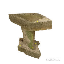Three-piece Stone Bird Bath.     Estimate $250-350