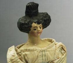 Papier-mache Shoulder Head Lady Doll with Apollo Knot
