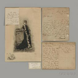 American Theater, 19th Century, Four Signed Documents.
