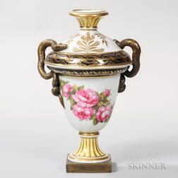 Neoclassical-style English Porcelain Urn