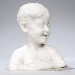 Marble Bust of a Laughing Boy
