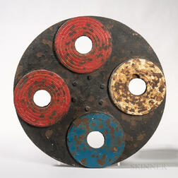 Painted Cast Iron Carnival Target