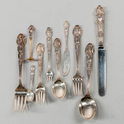 "Tiffany & Co. ""Renaissance"" Pattern Sterling Silver Flatware Service"