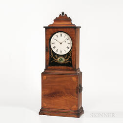 Inlaid Massachusetts Shelf Clock