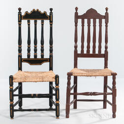 Two Bannister-back Chairs