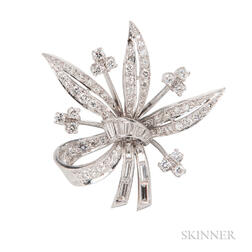 Platinum and Diamond Pendant/Brooch