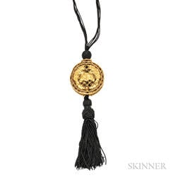 High-karat Gold Cricket Cage Pendant