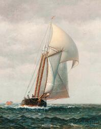 James Gale Tyler (American, 1855-1931)    Schooner Under Way