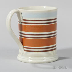 Slip-decorated Pearlware Half-pint Mug