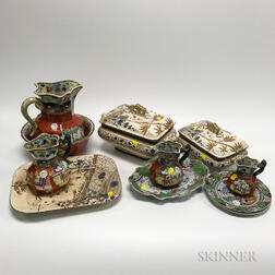 Eleven Ironstone Tableware Items