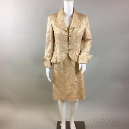 Fiandaca Silk Brocade Cocktail Dress and Jacket