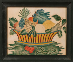 Small Watercolor Theorem on Paper of a Basket of Fruit