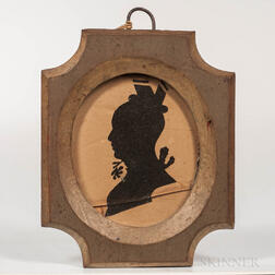 Hollow-cut Silhouette of a Lady