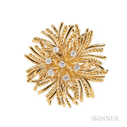 18kt Gold and Diamond Pendant/Brooch, Tiffany & Co.