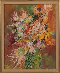 American School, 20th Century    Floral Bouquet