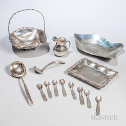 Fourteen Mexican Silver Items