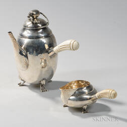 American Sterling Silver Coffeepot and Creamer