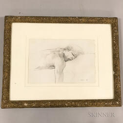 Two Framed Luis Caballero (Columbian, 1943-1995) Sketches