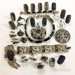 Group of Mexican Silver Jewelry