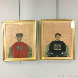 Pair of Ancestral Portraits